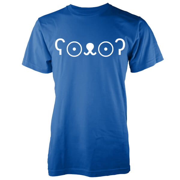 T-Shirt Homme Ourson Mignon Jemoticon -Bleu