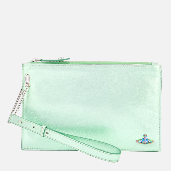 Vivienne Westwood Women's Venice Metallic Clutch Bag - Green