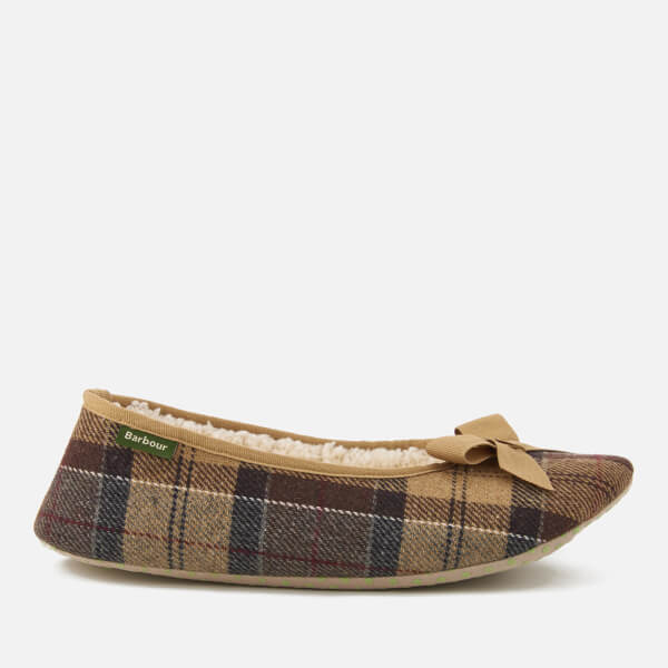 Barbour Women's Lily Tartan Ballet Slippers - Camel