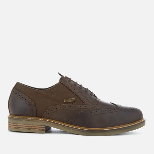 Barbour Men's Redcar Leather Oxford Brogues - Choco
