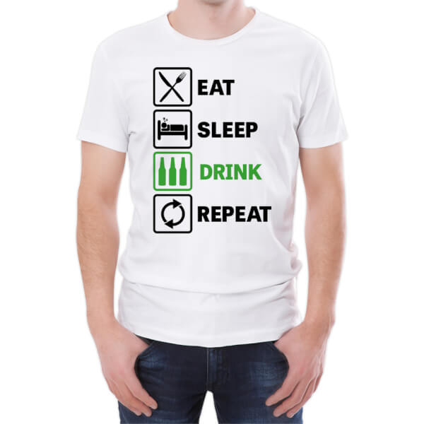 Eat Sleep Drink Repeat Men's T-Shirt