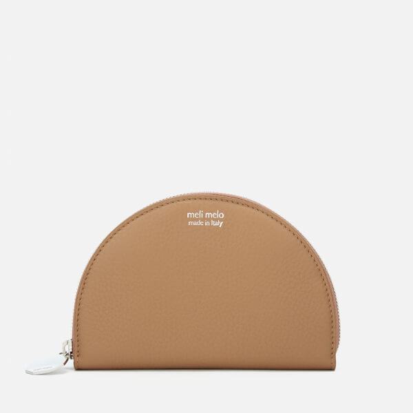 meli melo Women's Half Moon Floater Wallet - Light Tan