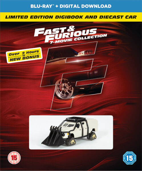 Fast & Furious 1-7 (Includes Bonus Disc, Digibook, and Car)