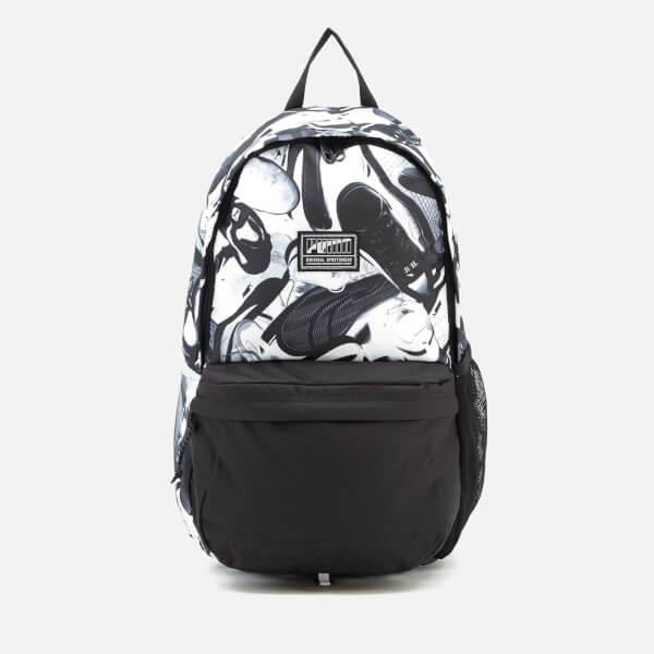 Puma Men s Academy Backpack - Puma Black Puma White Sneaker Graphic  Image 1 bf3e54d7c7836