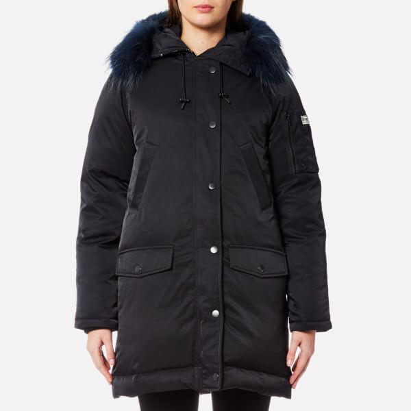 KENZO Women's Technical Outerwear Nylon Hooded Parka Coat - Black ...