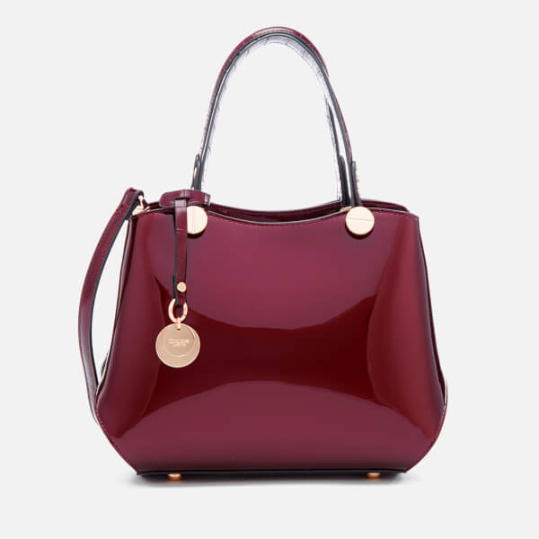 Dune Women's Dinidimogen Patent Tote Bag - Berry
