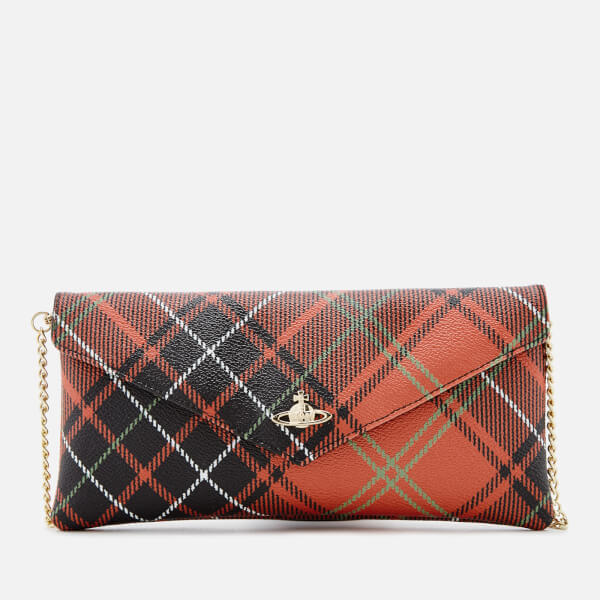 859ecc9aa971 Vivienne Westwood Women s Edinburgh Check Print Flap Wallet - Charlotte   Image 1