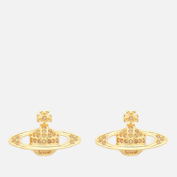 Vivienne Westwood Women's Mini Bas Relief Earrings - Gold