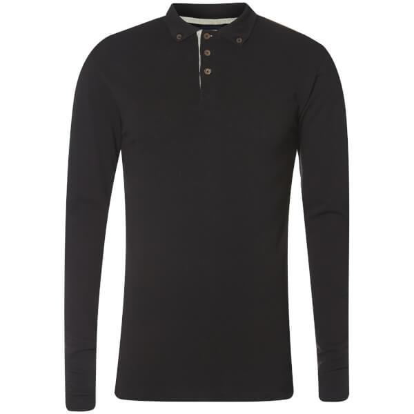 Advocate Men's Ralling Long Sleeve Polo Shirt - Black