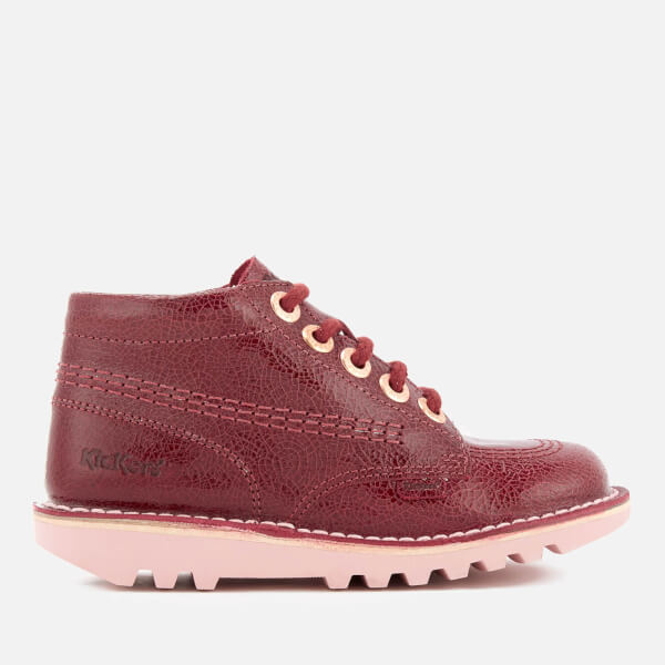 Kickers Kids  Kick Hi Boots - Burgundy Junior Clothing  d5c3e69f27f