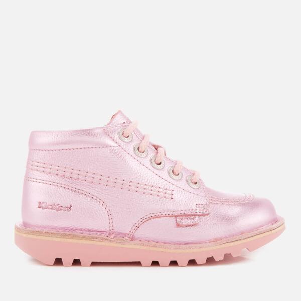 Kickers Kids' Kick Hi Patent Boots - Pink