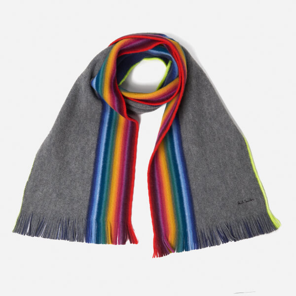 Paul Smith Men's Rainbow Edge Scarf - Grey
