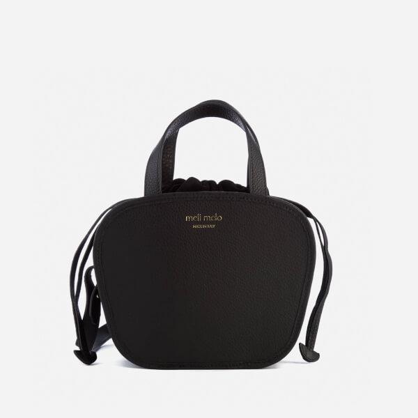 meli melo womens rosetta cross body bag black
