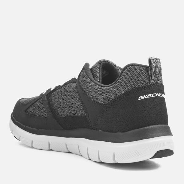 baskets homme flex advantage 2 0 gurn skechers noir blanc mens footwear. Black Bedroom Furniture Sets. Home Design Ideas