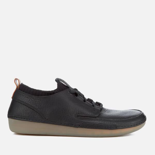 Clarks Men's Nature IV Leather Lace Up Shoes - Black