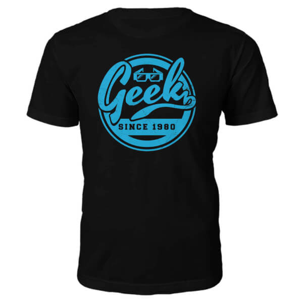 Geek Since 1980's T-Shirt- Black