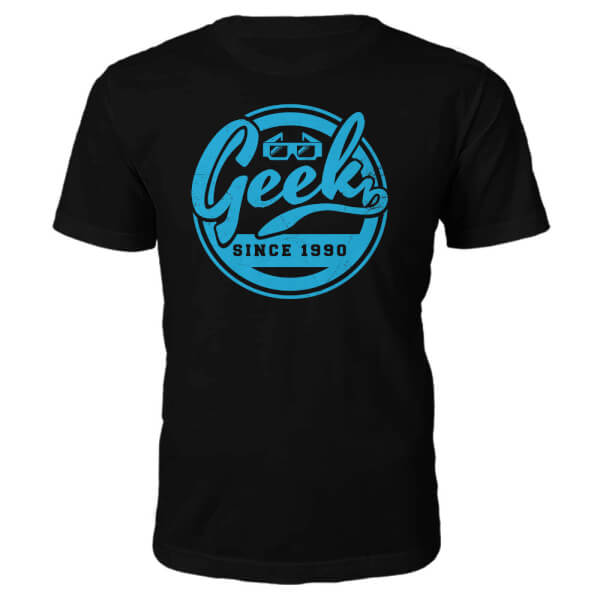 Geek Since 1990's T-Shirt- Black