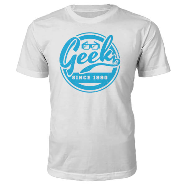 T-Shirt Geek Since 1990's -Blanc