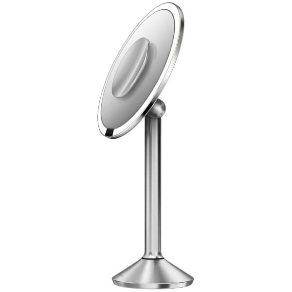 Simplehuman Stainless Steel Rechargeable Pro 5x Plus 10x Magnification Sensor Mirror 20cm Image 3