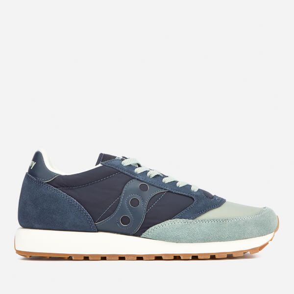 Saucony Men's Jazz Original Trainers - Aqua Grey/Navy