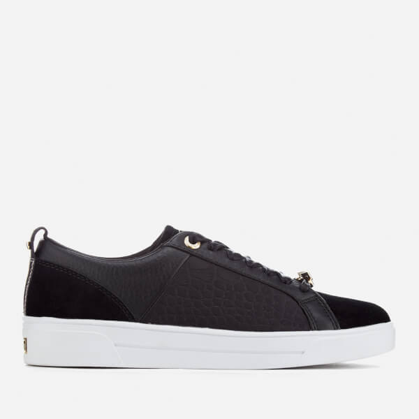 Ted Baker Women's Kulei Leather Cupsole Trainers - Black