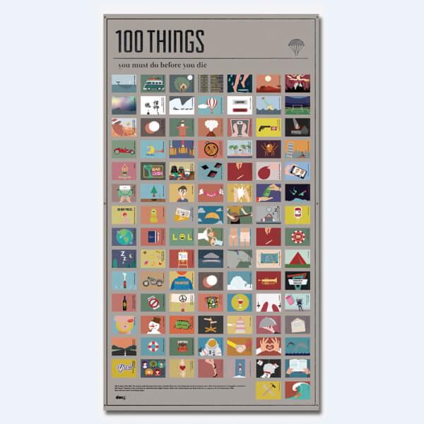 Affiche 100 Activités à Faire