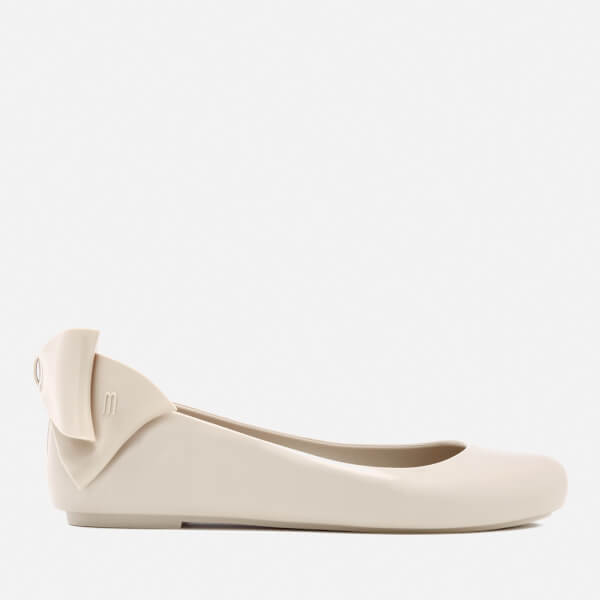Melissa Women's Space Love Gift Bow Ballet Flats - Ivory