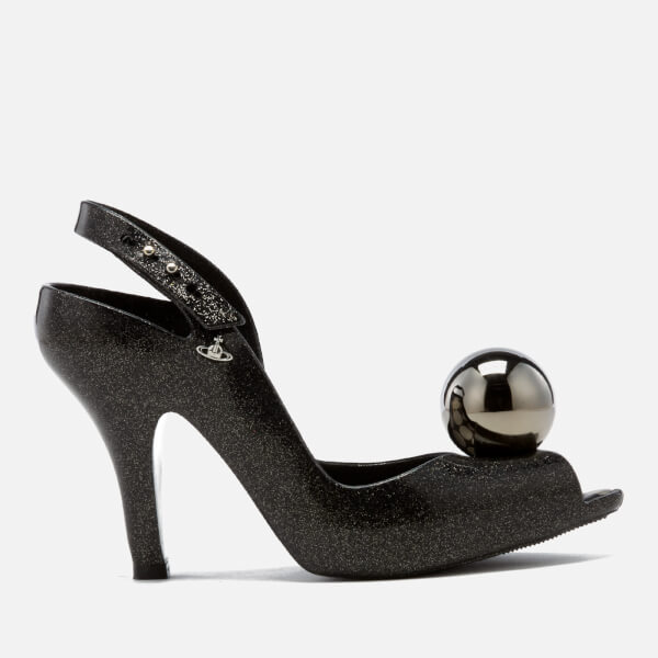 Vivienne Westwood for Melissa Women's Lady Dragon 18 Heeled Sandals - Black Glitter Globe