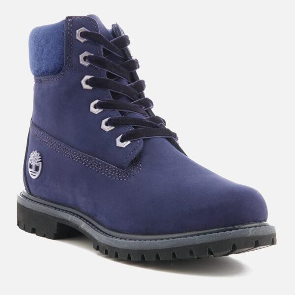 6efc101d48e0 Timberland Women s 6 Inch Water Resistant Boots - Dark Evening Blue  Waterbuck with Velvet Collar