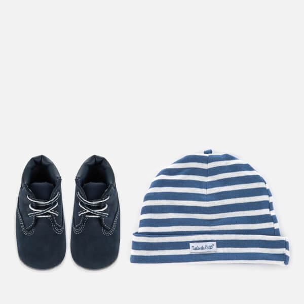 Timberland Babies' Crib Bootie with Hat Set - Navy Naturebuck