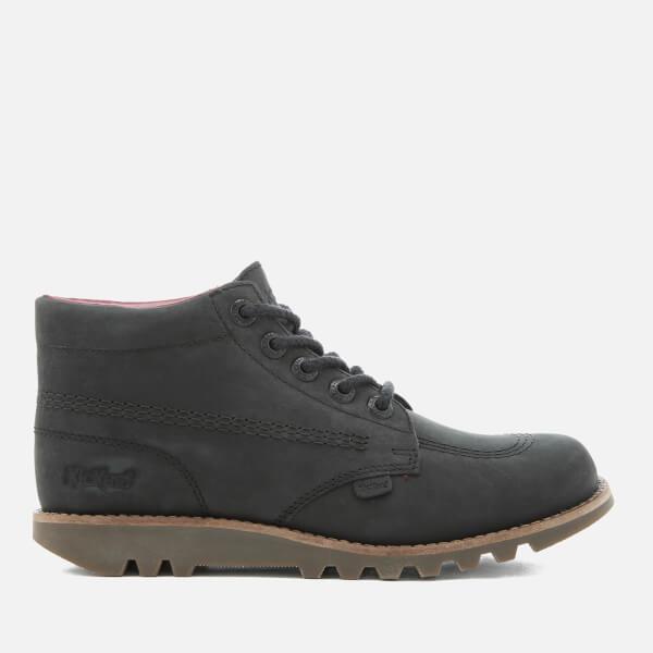 Kickers Women's Kick Hi C Leather Boots - Black