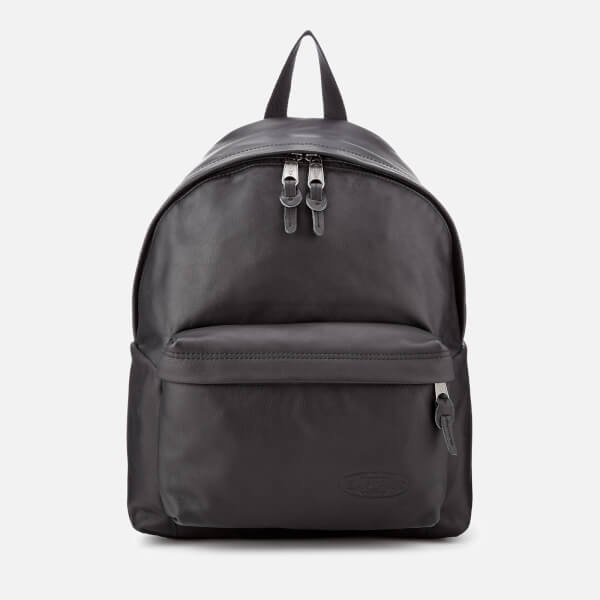 Eastpak Men's Leather Padded Pak'r Backpack - Black