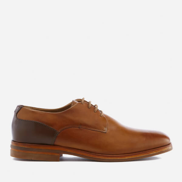 Hudson London Men's Enrico Leather Derby Shoes - Tan