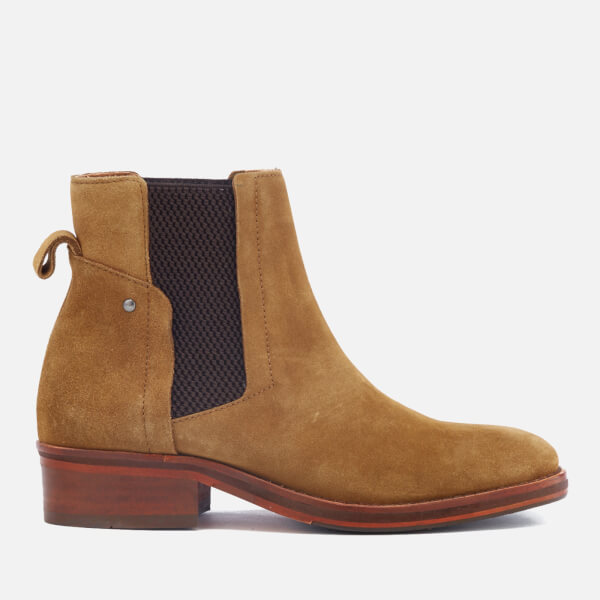 Hudson London Women s Rodney Suede Chelsea Boots - Tan Womens ... e52fe85839c2