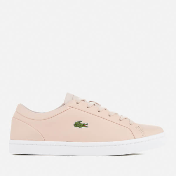 Lacoste Women's Straightset Lace 317 3 Cupsole Trainers - Light Pink