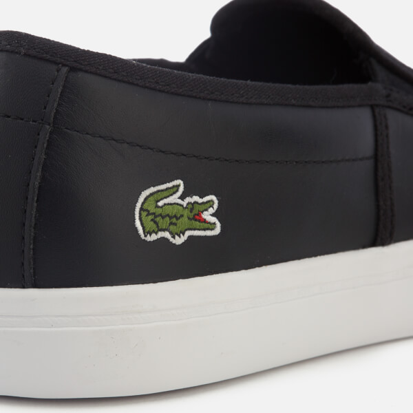 2662d9c2cd41d Lacoste Women s Gazon Bl 1 Leather Slip-On Trainers - Black  Image 6