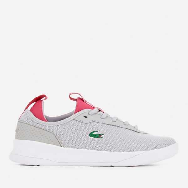 Lacoste Women's LT Spirit 2.0 317 1 Runner Trainers - Light Grey/Pink