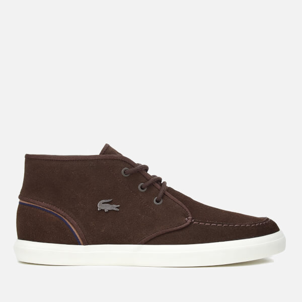 b4534bfd7a2dde Lacoste Men s Sevrin Mid 317 1 Chukka Boots - Dark Brown Mens ...