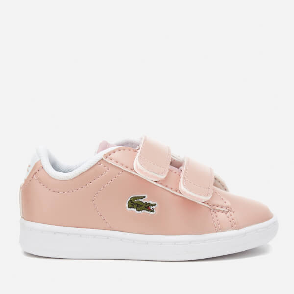 50faa11634cebc Lacoste Toddlers  Carnaby Evo 317 6 Trainers - Light Pink  Image 1