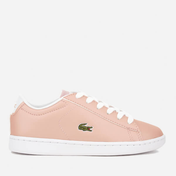 Lacoste Kids' Carnaby Evo 317 6 Trainers - Light Pink
