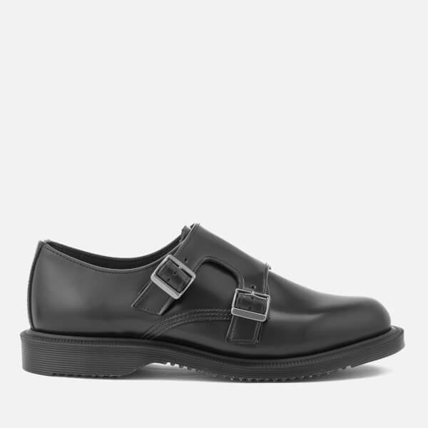 Dr. Martens Women's Kensington Pandora Leather Double Monk Strap Shoes - Black