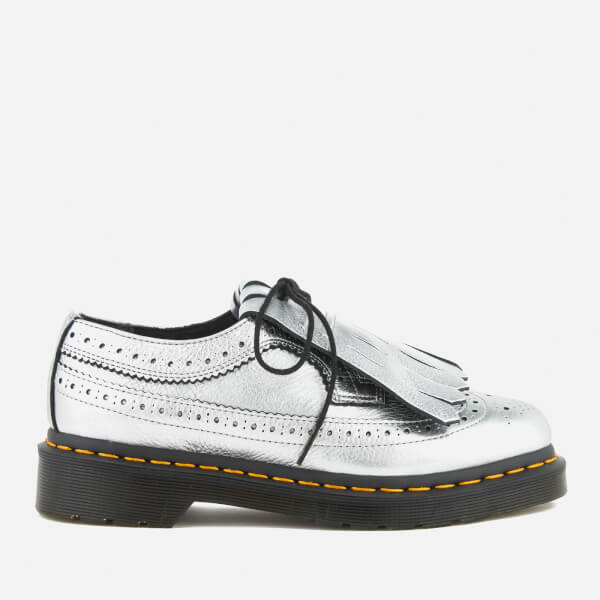 Dr. Martens Women's 3989 Metallic Leather Brogues - Silver