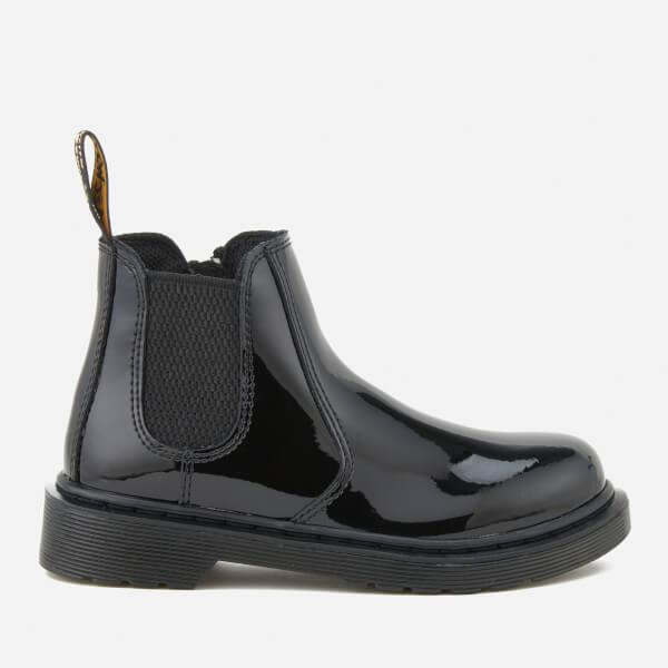 Dr. Martens Kids' Banzai Patent Lamper Leather Chelsea Boots - Black