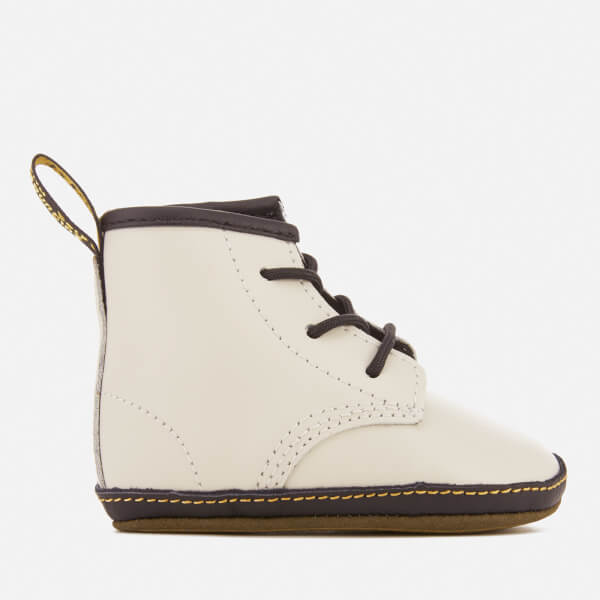 Dr. Martens Babies' Auburn Crib Lace Booties - White