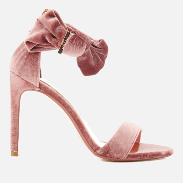 Ted Baker Women's Torabel Velvet Barely There Heeled Sandals - Mink