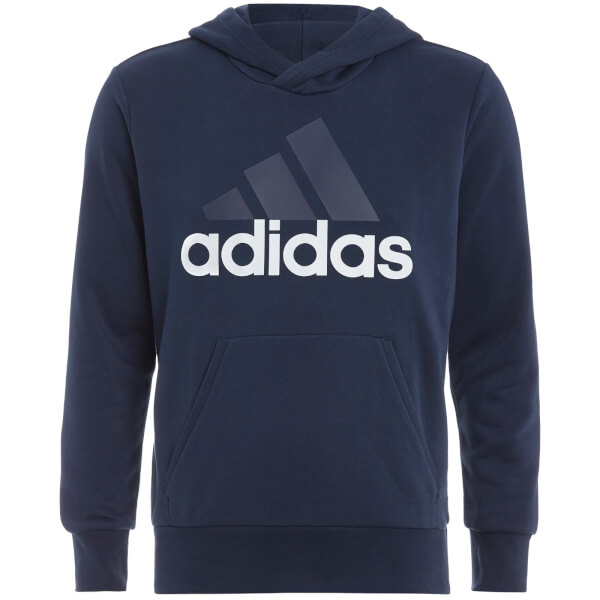 adidas Men's Essential Big Logo Hoody - Navy
