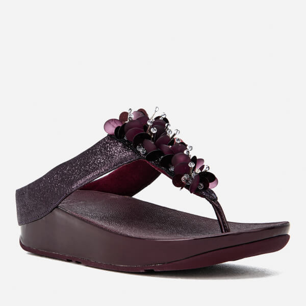 83b0d3741accdc FitFlop Women s Boogaloo Toe-Post Sandals - Deep Plum Womens ...