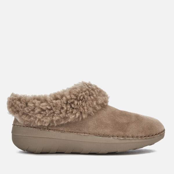 FitFlop Women's Loaff Suede Snug Slippers - Desert Stone