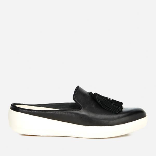 7b5cad191 FitFlop Women s Superskate Slip-On Leather Flats - Black  Image 1