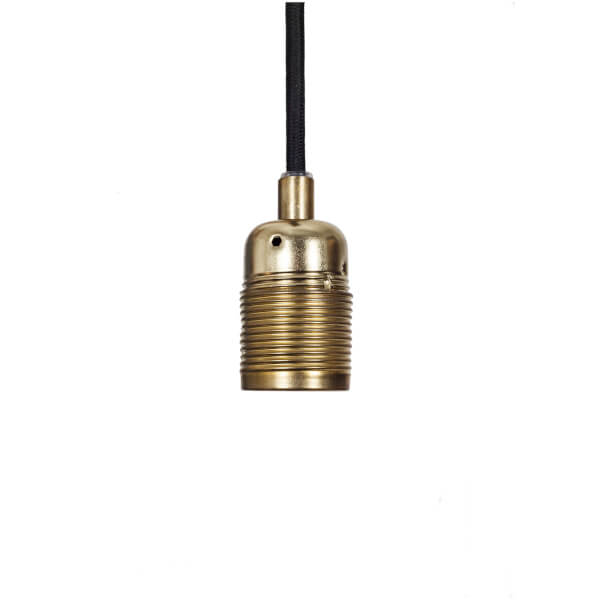 Frama E27 Pendant - Bronze - Black Cable